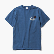 CALEE WASHED SNAKE ROSE T-SHIRT <BLUE NAVY>