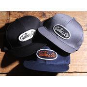 CALEE T/C TWILL WAPPEN CAP <BLACK><GRAY><NAVY>