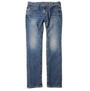 CUTRATE USED SKINY DENIM PANTS  <INDIGO BLUE>