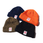 CALEE COTTON KNIT CAP <NAVY><OLIVE><ORANGE><BLACK>